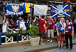 St Johnstone v Eskisehirspor....18.07.12  Uefa Cup Qualifyer.St Johnstone fans drinking and having fun with the Eskisehirspor fans.Picture by Graeme Hart..Copyright Perthshire Picture Agency.Tel: 01738 623350  Mobile: 07990 594431