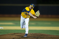 Kent State Golden Flashes starting pitcher Zach Willeman (23) follows through on his delivery against the Wake Forest Demon Deacons in game two of a double-header at David F. Couch Ballpark on March 4, 2017 in  Winston-Salem, North Carolina.  The Demon Deacons defeated the Golden Flashes 5-0.  (Brian Westerholt/Four Seam Images)