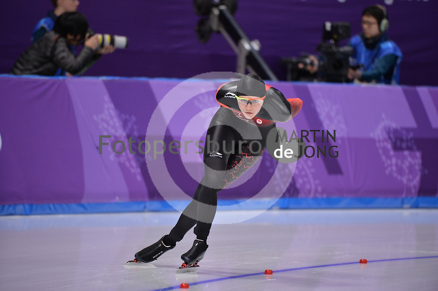 OLYMPIC GAMES: PYEONGCHANG: 16-02-2018, Gangneung Oval, Long Track, 5.000m Ladies, Isabelle Weidemann (CAN), ©photo Martin de Jong