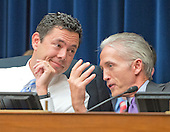 United States Representative Jason Chaffetz (Democrat of Utah), Chairman, US House Committee on Oversight and Government Reform, left, and US Representative Trey Gowdy (Republican of South Carolina), Chairman, US House Select Committee on the Events Surrounding the 2012 Terrorist Attack in Benghazi, Libya, right, discuss the testimony of FBI Director James Comey before the United States House Committee on Oversight and Government Reform following his announcement on Tuesday that he would recommend not to prosecute former US Secretary of State Hillary Clinton for maintaining a private server on Capitol Hill in Washington, DC on Thursday, July 7, 2016.<br /> Credit: Ron Sachs / CNP<br /> (RESTRICTION: NO New York or New Jersey Newspapers or newspapers within a 75 mile radius of New York City)