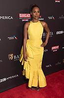 Issa Rae attends the BAFTA Los Angeles Awards Season Tea Party at Hotel Four Seasons in Beverly Hills, California, USA, on 06 January 2018. Photo: Hubert Boesl - NO WIRE SERVICE - Photo: Hubert Boesl/dpa /MediaPunch ***FOR USA ONLY***