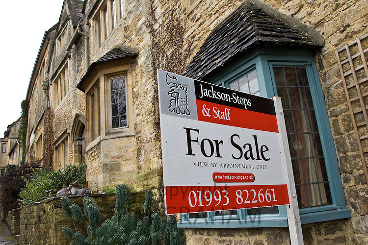 Estate Agent 'For Sale'Board, Burford, England, United Kingdom