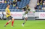 Solna 2015-07-26 Fotboll Allsvenskan AIK - IF Elfsborg :  <br /> AIK:s Henok Goitom g&ouml;r 4-0 med ett skott under matchen mellan AIK och IF Elfsborg <br /> (Foto: Kenta J&ouml;nsson) Nyckelord:  AIK Gnaget Friends Arena Allsvenskan Elfsborg IFE