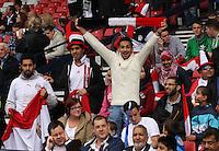 Men's Olympic Football match Egypt v Belarus on 1.8.12...Egyptian fans, during the Men's Olympic Football match between Egypt v Belarus at Hampden Park, Glasgow.