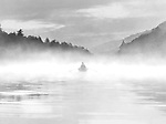 MISTY MORNING ROW-- A lone rower cuts through a morning mist on Lake Watoga in southern West Virgina.