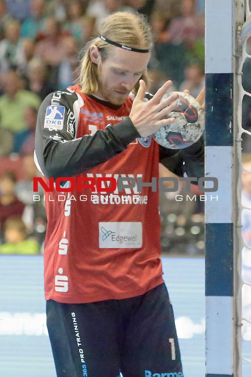 05.99.2015 , Sportarena, Hannover, GER,  DKB Handball-Bundesliga 15/16, TSV Hannover-Burgdorf vs Bergischer HC . <br /> <br /> <br /> HC TW Bj&ouml;rgwin Pall Gustavsson #1<br /> <br /> <br /> <br />   Foto &copy; nph / Rust