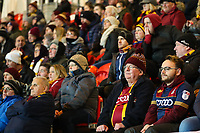 Bradford City fans during the Sky Bet League 1 match between Doncaster Rovers and Bradford City at the Keepmoat Stadium, Doncaster, England on 19 March 2018. Photo by Thomas Gadd.
