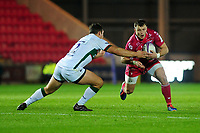 Steffan Hughes of Scarlets in action during the European Rugby Challenge Cup Round 1 match between the Scarlets and London Irish at Parc Y Scarlets in Llanelli, Wales, UK. Saturday 16th November 2019