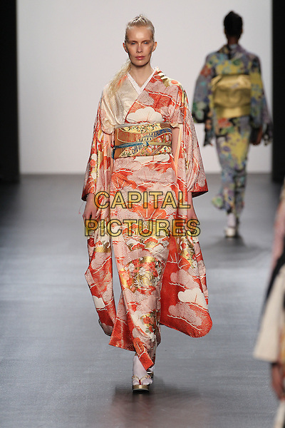 HIROMI ASAI<br /> New York Fashion Week<br /> Ready to Wear<br /> Fall Winter 16/17<br /> in New York, USA February 16, 2015.<br /> CAP/GOL<br /> &copy;GOL/Capital Pictures