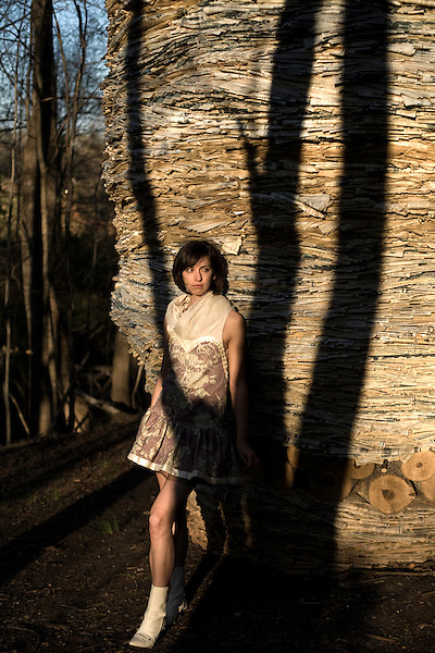 March 20, 2008. Raleigh NC..Independent Weekly fashion shoot at the NC Museum of Art.