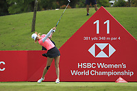 Michelle Wie (USA) in action on the 11th during Round 4 of the HSBC Womens Champions 2018 at Sentosa Golf Club on the Sunday 4th March 2018.<br /> Picture:  Thos Caffrey / www.golffile.ie<br /> <br /> All photo usage must carry mandatory copyright credit (&copy; Golffile | Thos Caffrey)