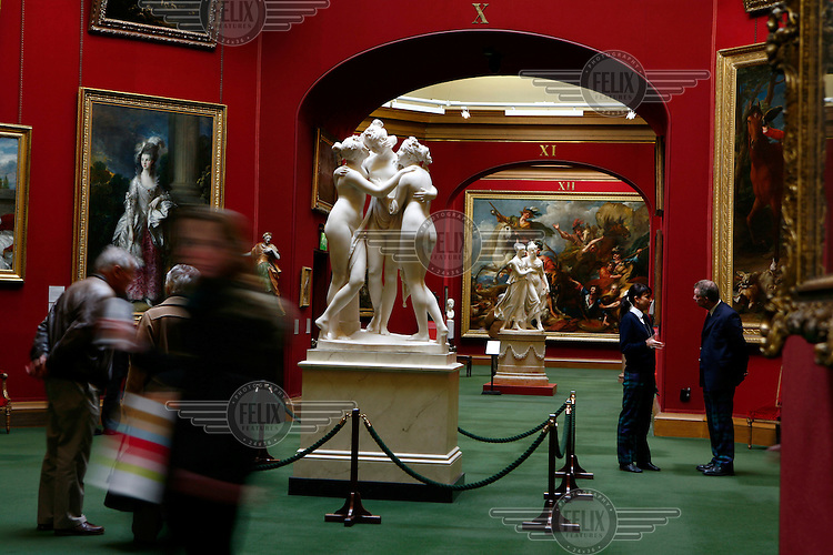 Antonio Canova's 'Three Graces' on display in the National Gallery of Scotland in Edinburgh.