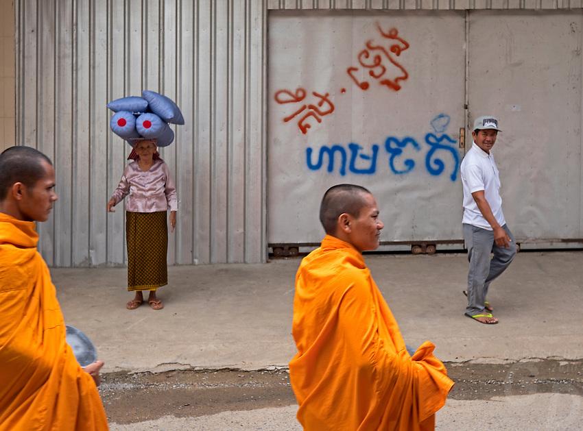 Street scene in Battambang, Cambodia