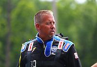 May 17, 2015; Commerce, GA, USA; NHRA pro stock driver Bo Butner during the Southern Nationals at Atlanta Dragway. Mandatory Credit: Mark J. Rebilas-USA TODAY Sports