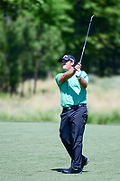 Patrick Reed (USA) watches his approach shot on 2 during round 1 of the Shell Houston Open, Golf Club of Houston, Houston, Texas, USA. 3/30/2017.<br /> Picture: Golffile | Ken Murray<br /> <br /> <br /> All photo usage must carry mandatory copyright credit (&copy; Golffile | Ken Murray)
