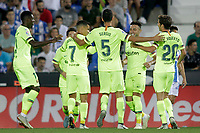 FC Barcelona's Ousmane Dembele, Leo Messi, Philippe Coutinho, Sergio Busquets, Munir El Haddadi and Sergi Roberto celebrate goal during La Liga match. September 26,2018. (ALTERPHOTOS/Acero)<br /> Liga Campionato Spagna 2018/2019<br /> Foto Alterphotos / Insidefoto <br /> ITALY ONLY
