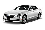 2019 Cadillac CT6 Luxury 4 Door Sedan Angular Front automotive stock photos of front three quarter view