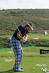 Ian Poulter (ENG) in action on the practice range during Day 1 of the Volvo World Match Play Championship in Finca Cortesin, Casares, Spain, 19th May 2011. (Photo Eoin Clarke/Golffile 2011)