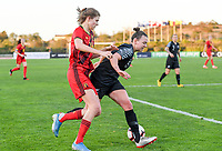 20200304  Parchal , Portugal : Belgian Marie Minnaert (16) pictured in a duel with New Zealand midfielder Ria Percival (2) during the female football game between the national teams of New Zealand , known as the Football Ferns and Belgium called the Red Flames on the first matchday of the Algarve Cup 2020 , a prestigious friendly womensoccer tournament in Portugal , on wednesday 4 th March 2020 in Parchal , Portugal . PHOTO SPORTPIX.BE   DAVID CATRY