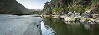 Smoothwater Bay with Smoothwater River near Jackson Bay, South Westland, West Coast, World Heritage Area, South Island, New Zealand