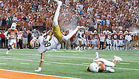 Wide receiver Equanimeous St. Brown (6) flips into the end zone for a second quarter TD.