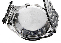 BNPS.co.uk (01202 558833)<br /> Pic: GardinerHoulgate/BNPS<br /> <br /> £40,000 Antiques Roadshow suprise find heads for auction...<br /> <br /> An extremely rare watch a British seaman bought for £35 as a 21st birthday present in the Far East is now tipped to sell for a whopping £40,000.<br /> <br /> There were only 50 red hand 'Ultraman' Speedmasters ever made, and unknown to Roger he had bought one nearly 50 years ago.<br /> <br /> Now retired, Roger Cooper(71) acquired the Omega Speedmaster new while serving in the Merchant Navy on the steamer 'Chitral' in Hong Kong in 1968.<br /> <br /> He spent £35, almost a month's wage at the time, on the timepiece, buying it from a wholesaler he had become friendly with. But it has proved a shrewd investment as it has increased over 1,000 times in value in the intervening five decades.<br /> <br /> Grandfather of two Mr Cooper, from Havant, Hants, has now decided to auction it with Gardiner Houlgate, of Corsham, Wilts.