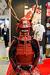 February 8th, 2012 : Tokyo, Japan – Japanese traditional worrier armor is displayed for The 73rd Tokyo International Gift show 2012 at Tokyo Big Sight. There are over 3 million items including gift products and everyday goods. 2500 exhibitors showcase their unique products. This exhibition is held from February 8 to 10. (Photo by Yumeto Yamazaki/AFLO).