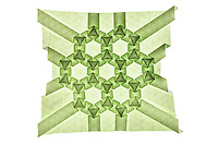 New York, NY, USA - December 14, 2011: Origami tessellation titled Ryan's Tessellation designed and folded by Esmé Cribb.