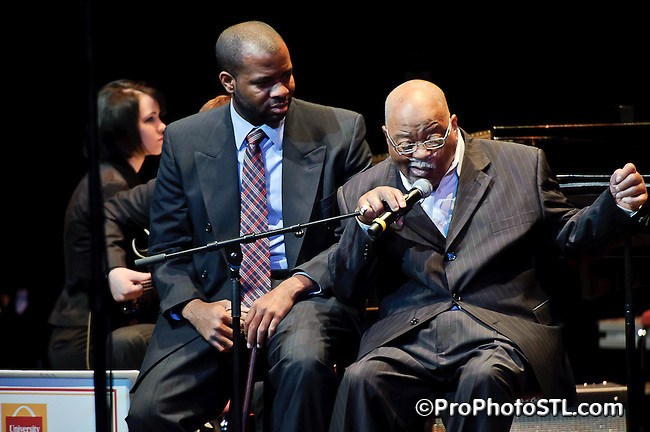 Clark Terry performing at Greater St. Louis Jazz Festival on Apr 16, 2011.