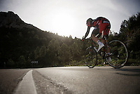 Team BMC rider training up Coll de Rates (Alicante, Spain)<br /> <br /> January 2016 Training Camps