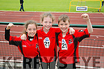 l-r  Sarah Coffey, Aoife O'Keeffe and Shamie Bousten from Fossa. at the An Riocht  Community Games in Castleisland on Saturday