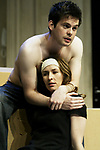 THE WOMAN BEFORE<br /> by Roland Schimmelpfennig<br /> Director Richard Wilson<br /> Royal Court Theatre 05/05<br /> HELEN BAXENDALE - Romy             <br /> TOM RILEY - Andi<br /> credit: Pete Jones / Performing Arts Images ***Educational Licence Use Only under Performing Arts Images Subscription Service.*** None of these images can be used commercially without prior written permission. ***Contact office@performingartsimages.com for details***