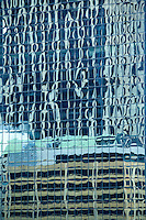14 SEP 2009 - SYDNEY, AUS - Reflection of buildings in the window of a building near Circular Quay (PHOTO (C) NIGEL FARROW)