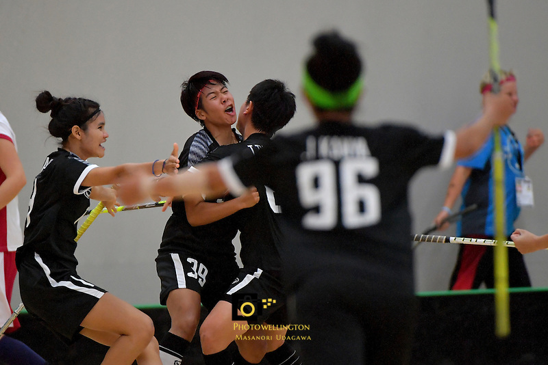 Thailand's Pichawee Yoola in action during the World Floorball Championships 2017 Qualification for Asia Oceania Region - Japan v Thailand at ASB Sports Centre , Wellington, New Zealand on Saturday 4 February 2017.<br /> Photo by Masanori Udagawa<br /> www.photowellington.photoshelter.com.