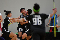 Thailand&rsquo;s Pichawee Yoola in action during the World Floorball Championships 2017 Qualification for Asia Oceania Region - Japan v Thailand at ASB Sports Centre , Wellington, New Zealand on Saturday 4 February 2017.<br /> Photo by Masanori Udagawa<br /> www.photowellington.photoshelter.com.
