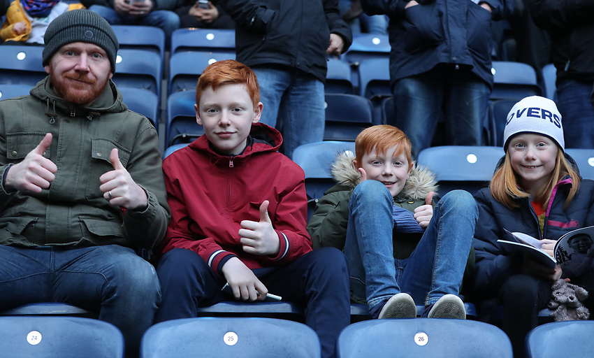 Blackburn Rovers' Fans enjoying the pre-match atmosphere <br /> <br /> Photographer Rachel Holborn/CameraSport<br /> <br /> The EFL Sky Bet Championship - Preston North End v Blackburn Rovers - Saturday 24th November 2018 - Deepdale Stadium - Preston<br /> <br /> World Copyright © 2018 CameraSport. All rights reserved. 43 Linden Ave. Countesthorpe. Leicester. England. LE8 5PG - Tel: +44 (0) 116 277 4147 - admin@camerasport.com - www.camerasport.com