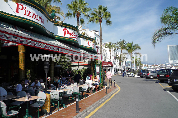**ALL ROUND PICTURES FROM SOLARPIX.COM**.**WORLDWIDE SYNDICATION RIGHTS**.Marbella GVs..This pic: Pizzeria Picasso in Puerto Banus..JOB REF: 7863    AB1       DATE: 12.10.08.**MUST CREDIT SOLARPIX.COM OR DOUBLE FEE WILL BE CHARGED* *UNDER NO CIRCUMSTANCES IS THIS IMAGE TO BE REPRODUCED FOR ANY ONLINE EDITION WITHOUT PRIOR PERMISSION*