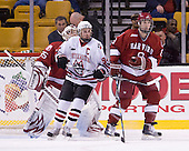 Tyler McNeely (NU - 94), Ian Tallett (Harvard - 8) - The Northeastern University Huskies defeated the Harvard University Crimson 4-1 (EN) on Monday, February 8, 2010, at the TD Garden in Boston, Massachusetts, in the 2010 Beanpot consolation game.