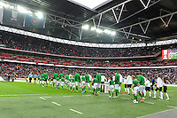 29.05.2013 London, England. The teams walk onto the pitch for the International Friendly between England and Republic of Ireland from Wembley Stadium.