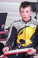 Livio Loi in his box at pre season winter test IRTA Moto3 & Moto2 at Ricardo Tormo circuit in Valencia (Spain), 11-12-13 February 2014