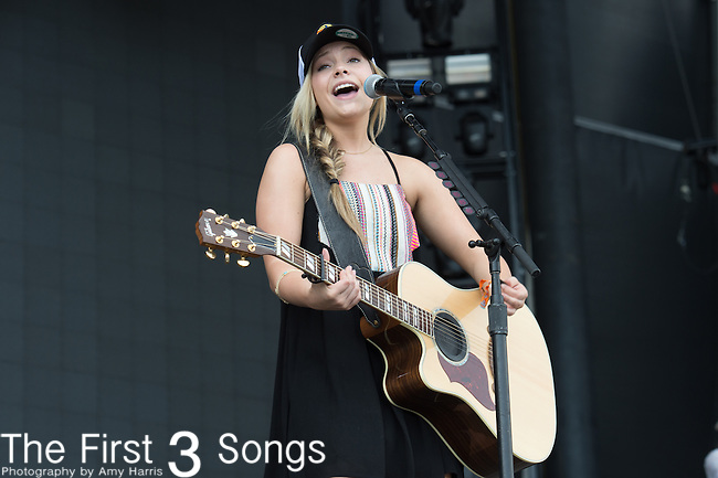 Taylor Dye of Maddie & Tae performs onstage during The Tortuga Music Festival in Fort Lauderdale, Florida.