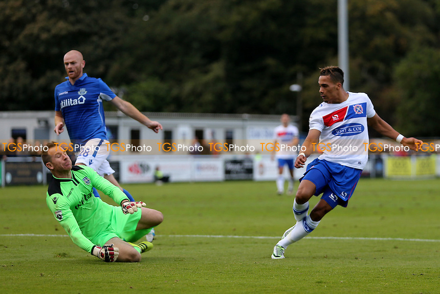 Corley Whitely of Dagenham scores the opening goal during Eastleigh vs Dagenham & Redbridge, Vanarama National League Football at the Silverlake Stadium on 8th October 2016