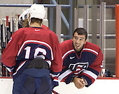 The US Blue team lost to Sweden 3-2 in a shootout as part of the 2005 Summer Hockey Challenge at the National Junior (U-20) Evaluation Camp in the 1980 rink at Lake Placid, NY on Saturday, August 13, 2005.
