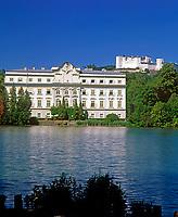 Oesterreich, Salzburger Land, Salzburg: Schloss Leopoldskron und Festung Hohensalzburg | Austria, Salzburger Land, Salzburg, Palace Leopoldskron und Fortress Hohensalzburg