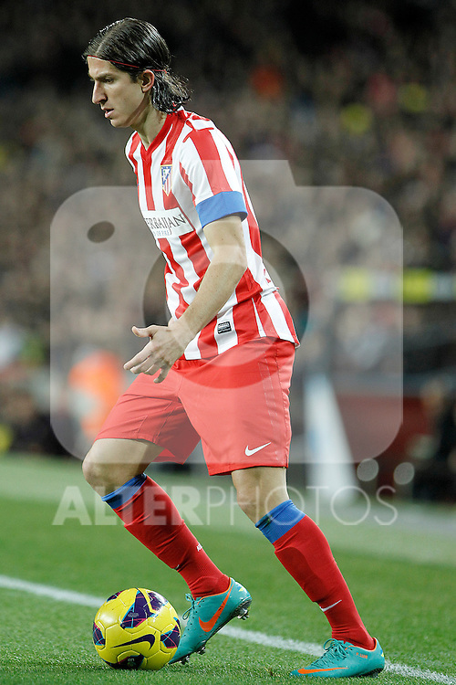 Atletico de Madrid's Filipe Luis during La Liga match.December 16,2012. (ALTERPHOTOS/Acero)
