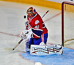 18 December 2008: Montreal Canadiens' goaltender Jaroslav Halak from the Slovak Republic  makes a first period save against the Philadelphia Flyers at the Bell Centre in Montreal, Quebec, Canada. The Canadiens look to avoid a four-game slide, while the Flyers seek their sixth win in a row. The Canadiens defeated the Flyers 5-2. ***** Editorial Sales Only ***** Mandatory Photo Credit: Ed Wolfstein Photo