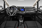 Stock photo of straight dashboard view of 2017 Honda Fit EX 5 Door Hatchback Dashboard