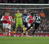 13.12.2014.  London, England. Premier League. Arsenal versus Newcastle. Newcastle United's Cheik Ismael Tioté has a wild effort which goes high over the bar.