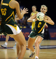 17.10.2012 South Africa's Nadia Uys in action during the Australia v South Africa netball test match as part of the Quad Series played in Newcastle Australia. Mandatory Photo Credit ©Michael Bradley.