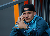 Pictured: Roque Mesa of Swansea City gesticulates to the camera. Wednesday 12 July 2017<br /> Re: Pre-season friendly, Barnet v Swansea City FC at The Hive, London, UK